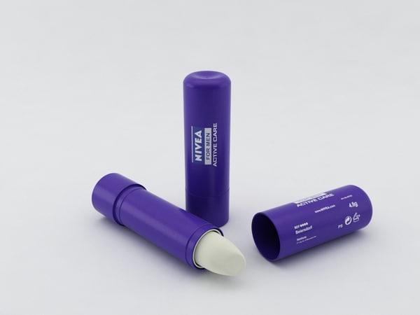 nivea lipstick 3d model