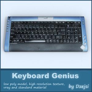 genius keyboard 3d model
