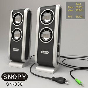 snopy speaker 3d model