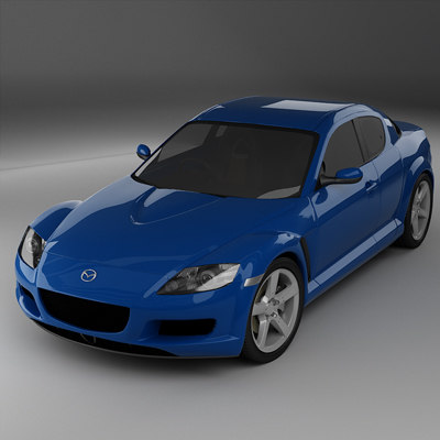 3ds max rx8 car sports
