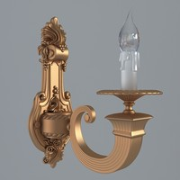 Antiquarian graceful sconce