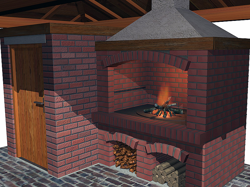 outdoor barbecue storage 3d model