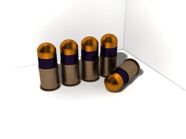 3d model 40mm bullet