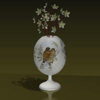free flowers vase 3d model