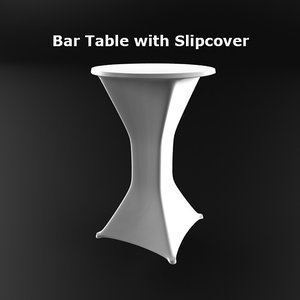 bar table slipcover 3ds