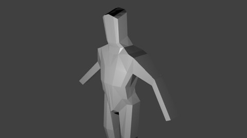 basic human 3d model