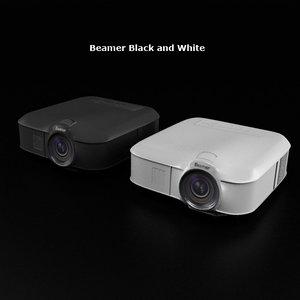beamer black white 3d model