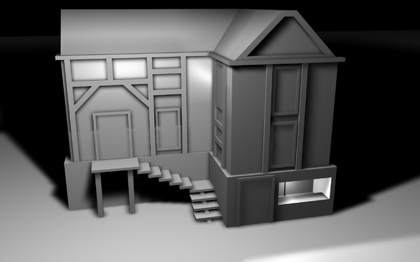 3d simple house fantasy