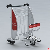 airport cart 3d 3ds