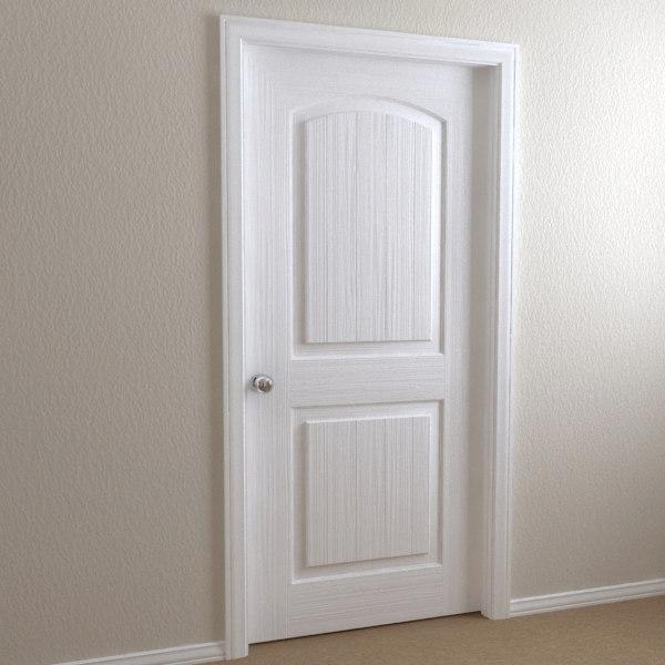 Interior Shaker Doors door - shaker 3d model