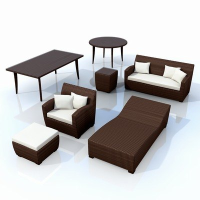 synthetic garden furniture 3d model