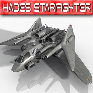 hades star fighter space 3d model