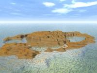 3d model island terrain landscape
