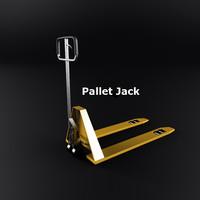 3d model pallet jack