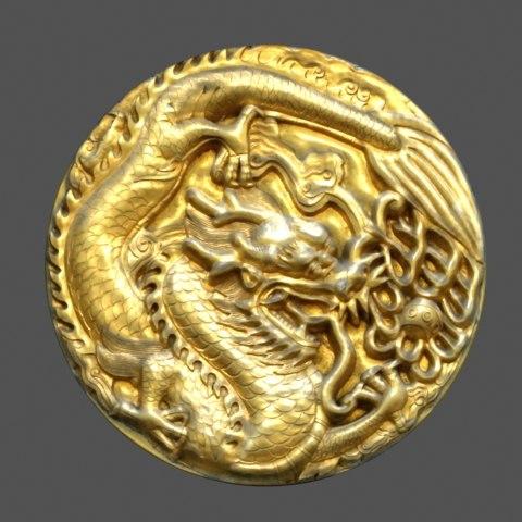 ornamental dragon shield 3d model