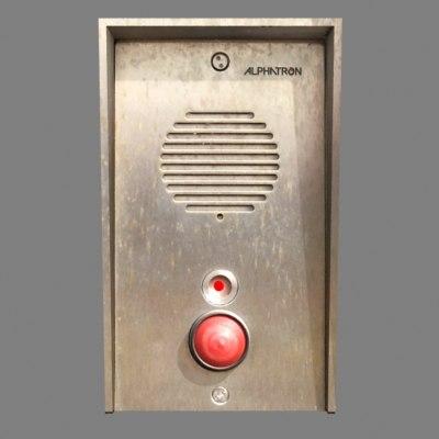 intercom weathered led 3d model
