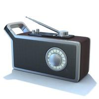 3d retro radio 01