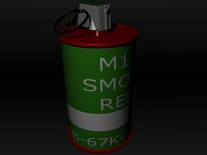 free m18 smoke grenade 3d model