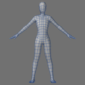 petite female male 3d model