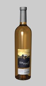 bottle tin roof chardonnay 3d model