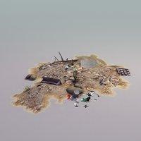 pile debris 3d model