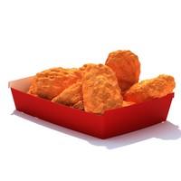 10piece spicy chicken nuggets 3d model