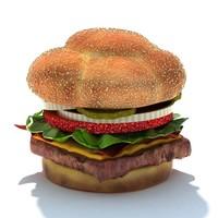 3d model bacon deluxe single