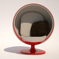 3d model ball chair cushion