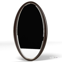 christopher guy oval mirror 50-0706 modern contemporary