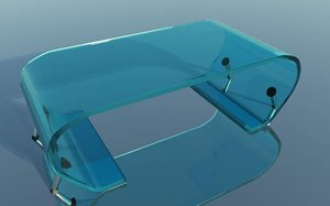 3d model of glass coffee table