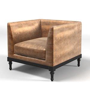 pierre modern chair 3d model