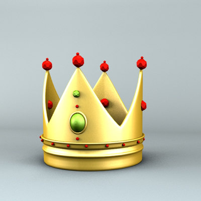 3d king crown