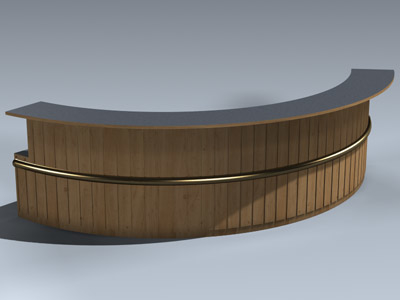 3d max desk reception