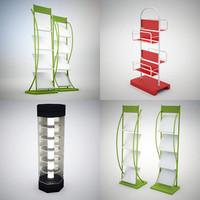3d display rack model
