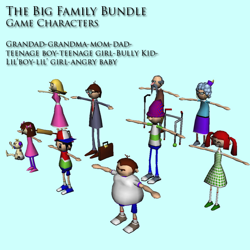 3d big family pack