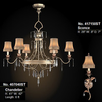 fine art lamps pastiche chandelier sconce luster 407040st 417150st classic strass crystal