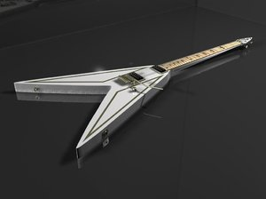 3d flying v guitar model