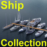 yachts ship 3d model