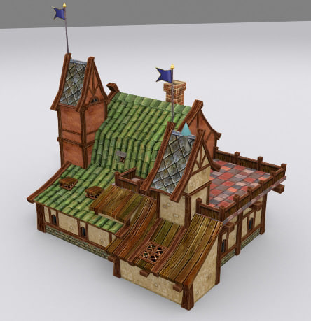 3d max medieval fantasy country house