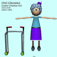 old lady grandmother 3d model