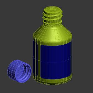 massage oil bottle 3d max