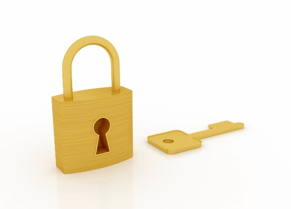 padlock lock key 3d 3ds