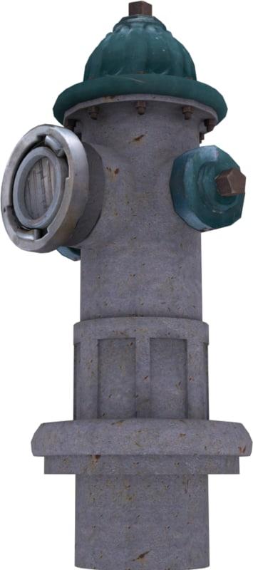 3d model hydrant city