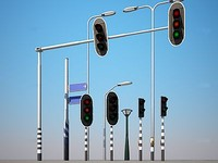 streetlights lights 3d max