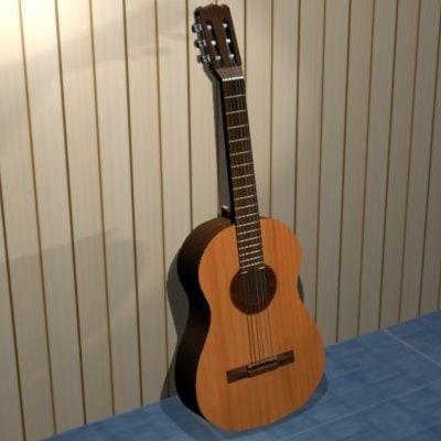 3ds acoustic guitar