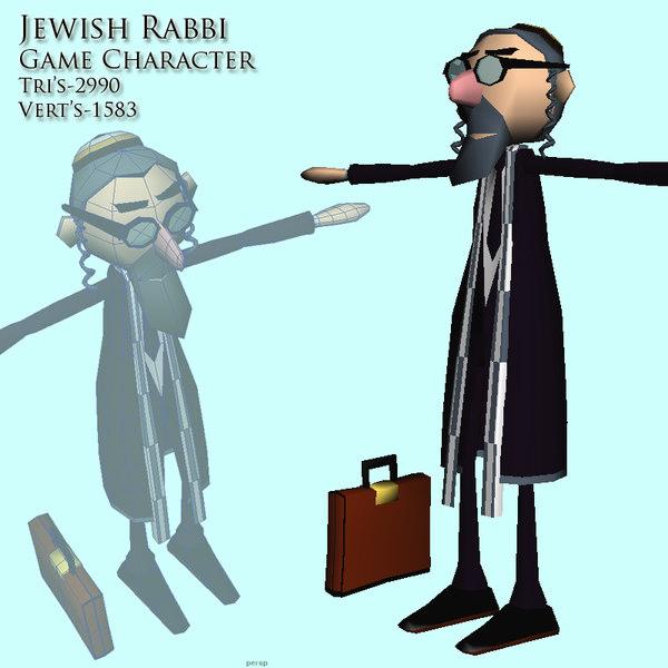 jewish rabbi 3d model
