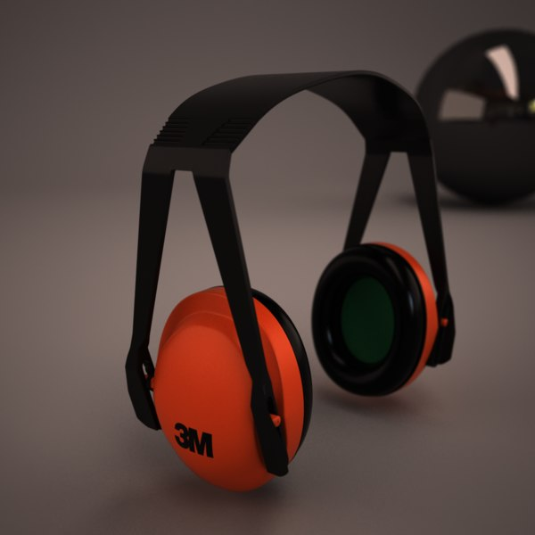 ear protectors 3d model