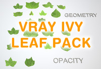 Ivy leaf pack 1 for Vray