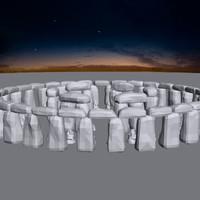 3d model historical stonehenge