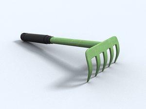 rake garden 3d model